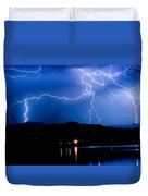 Lightning Blues Duvet Cover