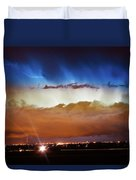 Lightning Cloud Burst Boulder County Colorado Im34 Duvet Cover