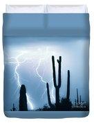 Lightning Storm Chaser Payoff Duvet Cover