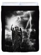 Lightning Strikes The Angel Gabriel Duvet Cover