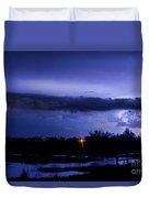 Lightning Thunderstorm July 12 2011 St Vrain Duvet Cover