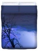 Lightning Tree Silhouette 38 Duvet Cover