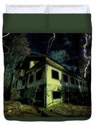 Lightnings On Abandoned Hotel On Liguria Mountains High Way - Fulmini Su Hotel Abbandonato Sull'av Duvet Cover