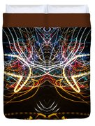 Lightpainting Symmetry Wall Art Print Photograph 1 Duvet Cover