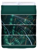 Green Film Grain Lightpainting Abstract Duvet Cover