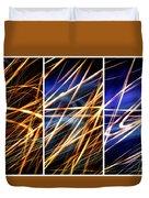 Lightpainting Triptych Wall Art Print Photograph 6 Duvet Cover