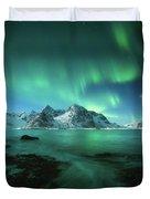 Lights Above Lofoten Duvet Cover