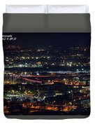 Lights Across Birmingham Duvet Cover