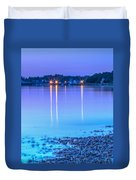 Lights Across The Bay Duvet Cover