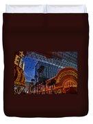 Lights In Down Town Las Vegas Duvet Cover