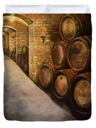 Lights In The Wine Cellar - Chateau Meichtry Vineyard Duvet Cover