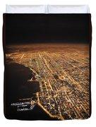 Lights Of Chicago Burn Brightly Duvet Cover