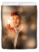 Lights Of Christmas Ideas Duvet Cover