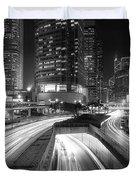 Lights Of Hong Kong Duvet Cover