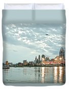 Lights Of Reds Game Duvet Cover