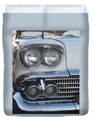 Lights On A '58 Chevy Duvet Cover