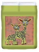 Lil Giraffes Duvet Cover