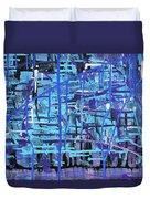 Lila Water Duvet Cover