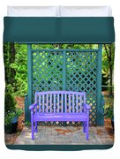 Lilac And Teal Garden Duvet Cover