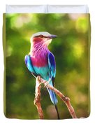 Lilac-breasted Roller Duvet Cover