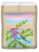 Lilac Breasted Roller In Thorn Tree Duvet Cover