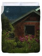 Lilac Cottage By Moonlight Duvet Cover