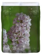Lilac Dreams With Corner Decorations Duvet Cover