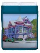 Lilac House, Alameda Duvet Cover