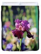 Lilac Iris In Bloom Duvet Cover