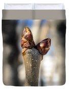 Lilac Leaf Buds Duvet Cover