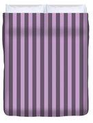 Lilac Purple Striped Pattern Design Duvet Cover