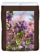 Lilacs And Dogwoods Duvet Cover