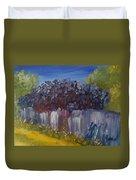 Lilacs On A Fence  Duvet Cover by Steve Jorde
