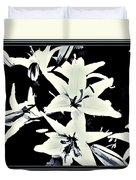 Lilies All Aglow Duvet Cover