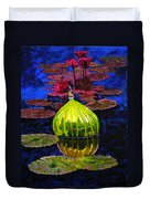 Lilies And Glass Reflections Duvet Cover