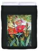Lilies And Hummingbird Duvet Cover