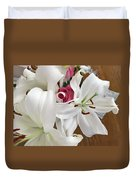 Lilies And Roses Duvet Cover