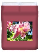 Lilies Art Prints Pink Lily Flowers 2 Giclee Prints Baslee Troutman Duvet Cover