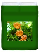 Lilies Art Tiger Lily Flowers Canvas Prints Floral Baslee Troutman Duvet Cover