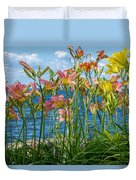 Lilies At The Waterfront Duvet Cover