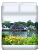 Lilies By The Bay, Cape Porpoise Me Duvet Cover