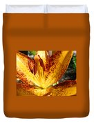 Lilies Glowing Orange Lily Flower Floral Art Print Canvas Baslee Troutman Duvet Cover