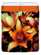 Lilies In The Shadow Duvet Cover