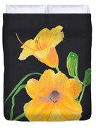 Lilies Of September Duvet Cover