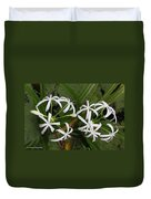 Lilies Of The Swamp Duvet Cover