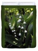 Lilies Of The Valley - Watercolor Duvet Cover
