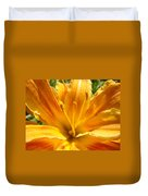 Lilies Orange Yellow Lily Flower 1 Giclee Art Prints Baslee Troutman Duvet Cover