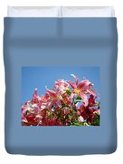 Lilies Pink Lily Flowers Art Prints Floral Summer Garden Baslee Troutman Duvet Cover
