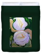 Lilies With Chiffon Duvet Cover