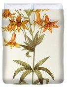 Lilium Penduliflorum Duvet Cover